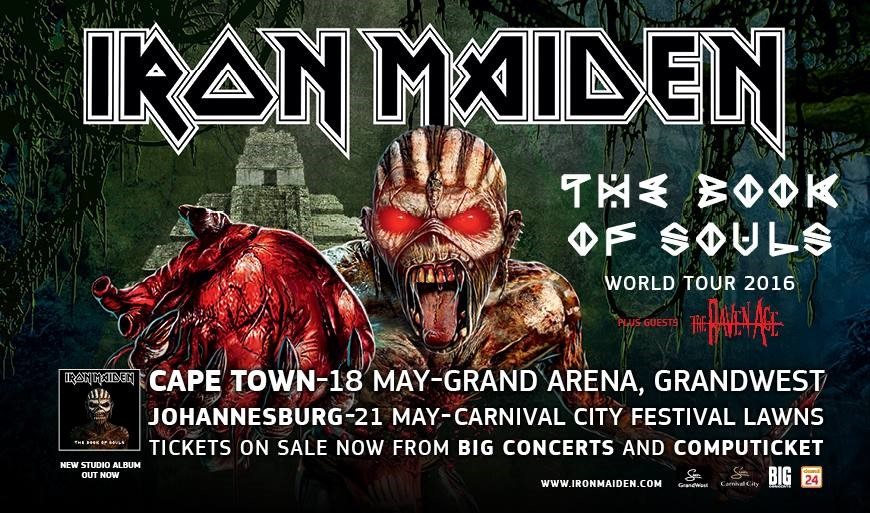 iron maiden tour poster sa may 2016