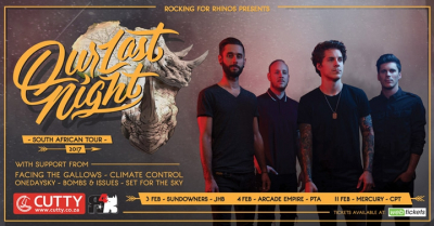 Our Last Night to Headline Rocking For Rhinos