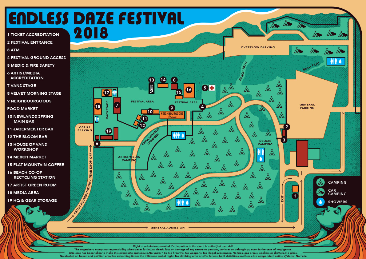 endless daze site map