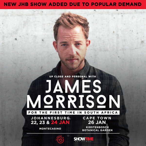 JamesMorrisonSA national Update
