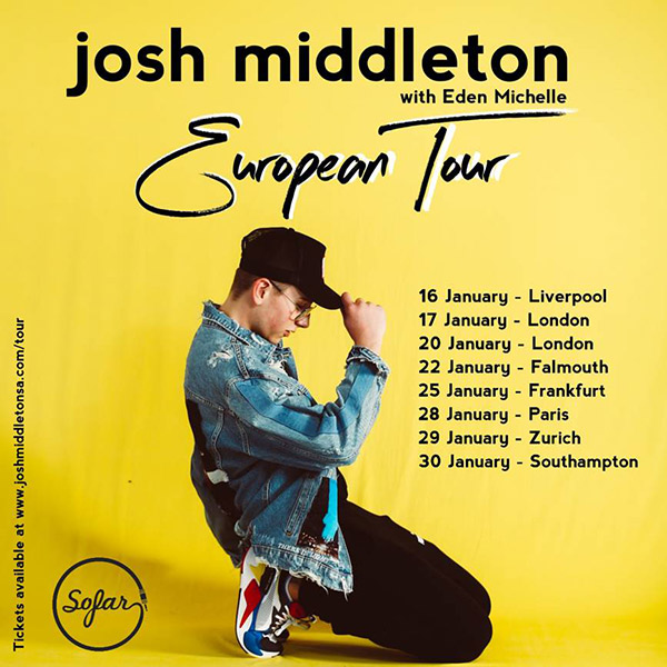 josh middleton tour dates