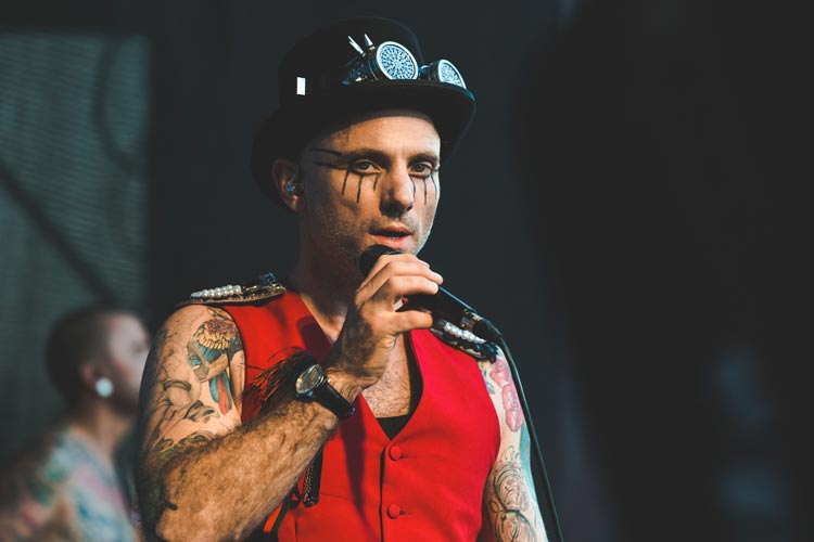 Kahn Morbee of The Parlotones performing at Sugar Rush POark this Sunday 6th October