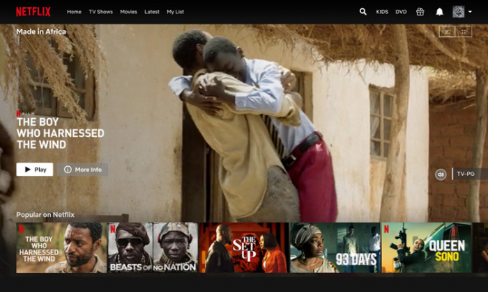 Netflix launches 'Made In Africa' collection