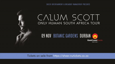 Durban Date Announced: Calum Scott 'Only Human' South Africa Tour