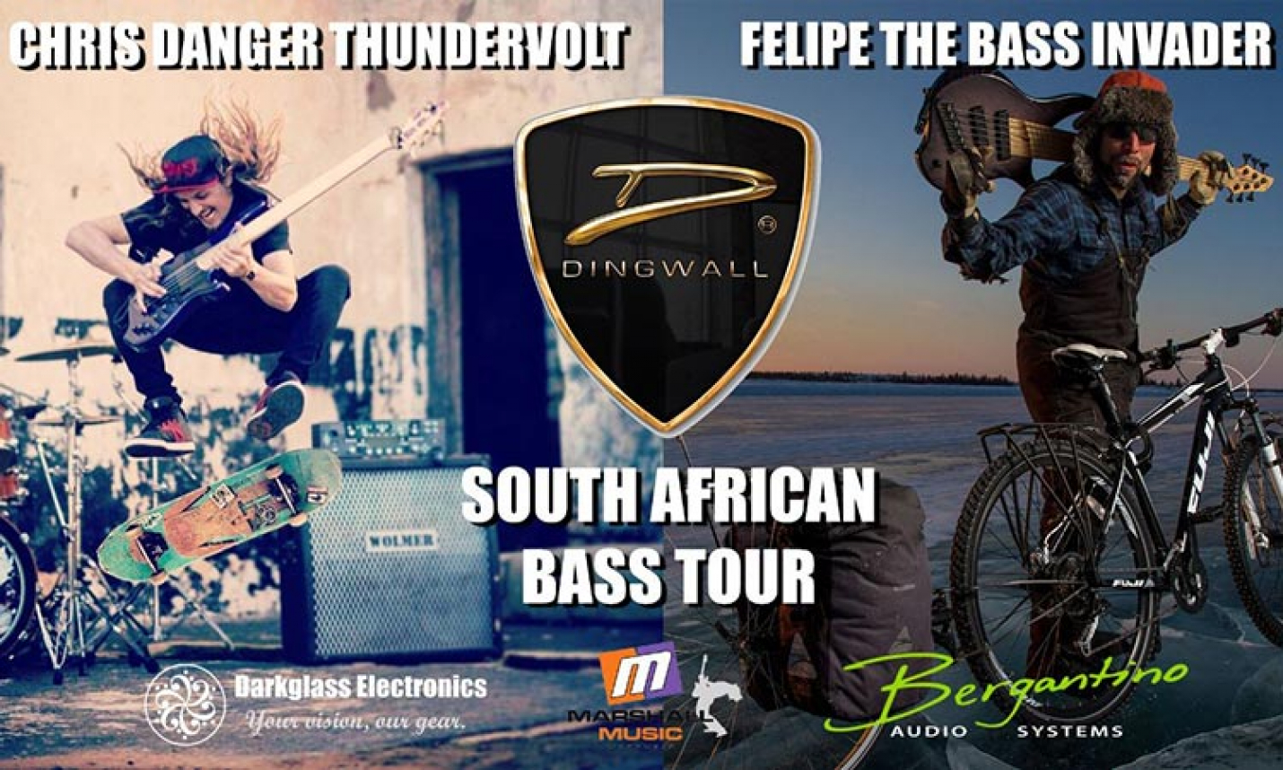 Chris Danger Teams up with Felipe for South African Dingwall Bass Tour