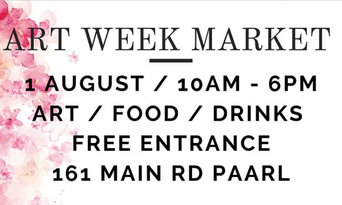 Save The Date: Special Market Day In Celebration of Art In Paarl