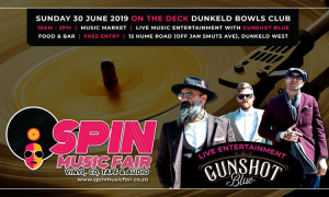 Spin Music Fair presents Gunshot Blue on Sunday, 30 June