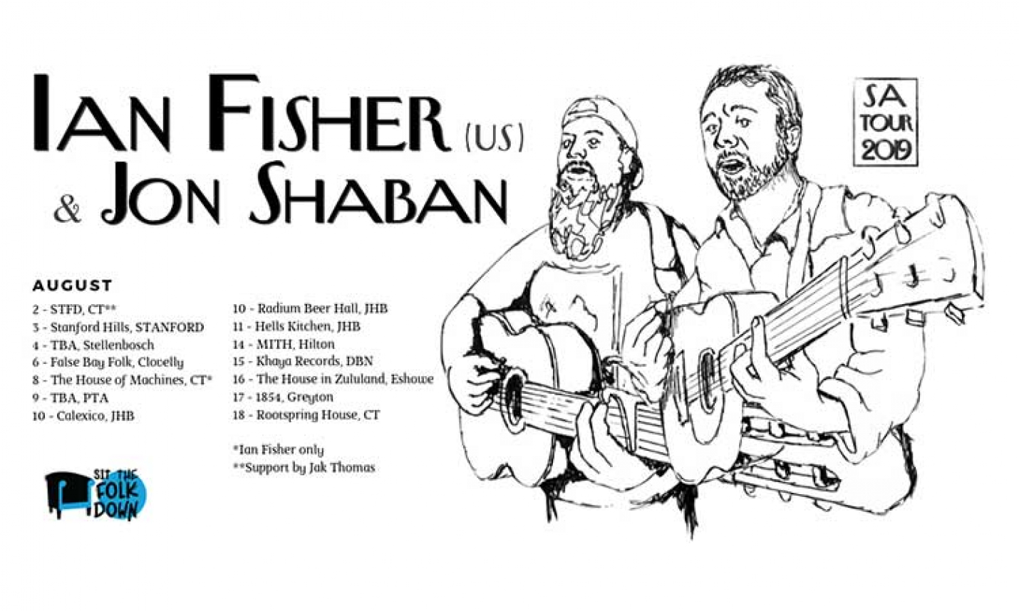 Jon Shaban and Ian Fisher Announce co-headlining South African tour