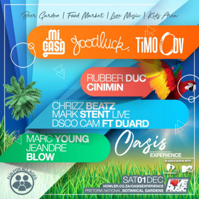 Mi Casa, Goodluck and TiMO ODV Live In The Garden This Saturday