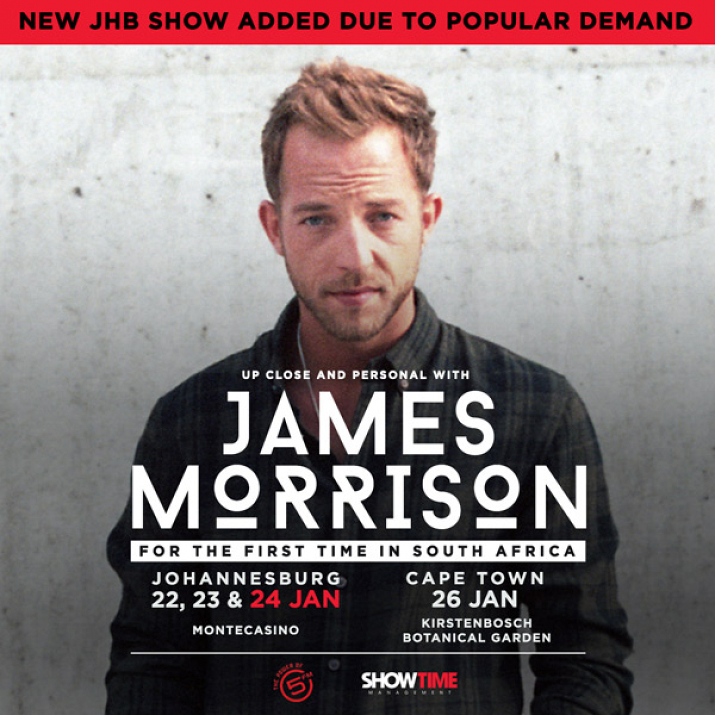 Extra James Morrison Jhb Concert & Support Act Announced